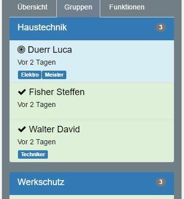 Online Services FE2: Gruppen