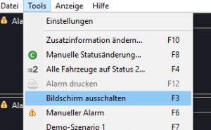 AM4: Alarmdruck über Tastenkürzel